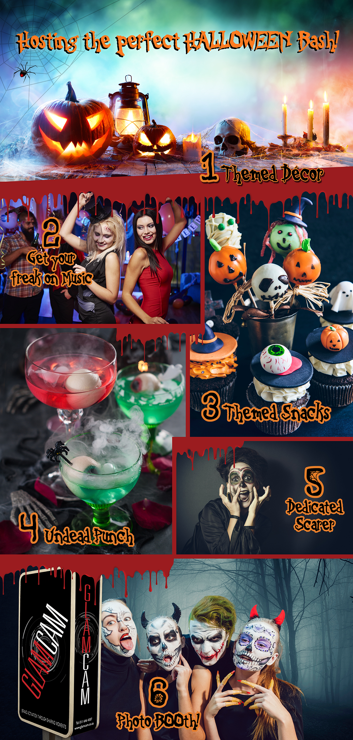 Tips For The Perfect Halloween Bash | Infographic | GlamCam