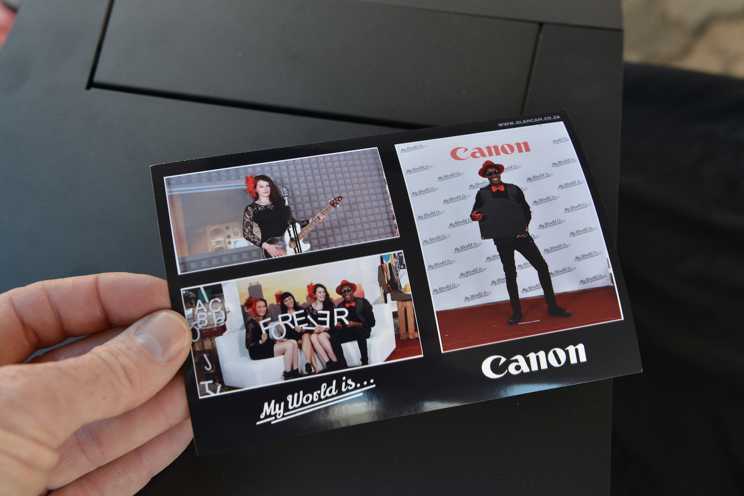 Photo booth activation image for Canon South Africa
